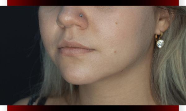 Пирсинг крыла носа.